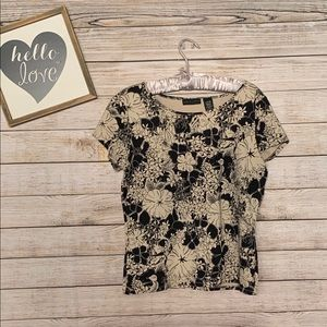 APOSTROPHE Stretch Floral Blouse